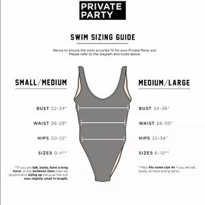 PRIVATE PARTY Swim - Private Party Available for Weekends Swimsuit
